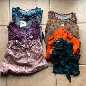 Women's Size XS 8 Item Mall Brand Clothing Bundle
